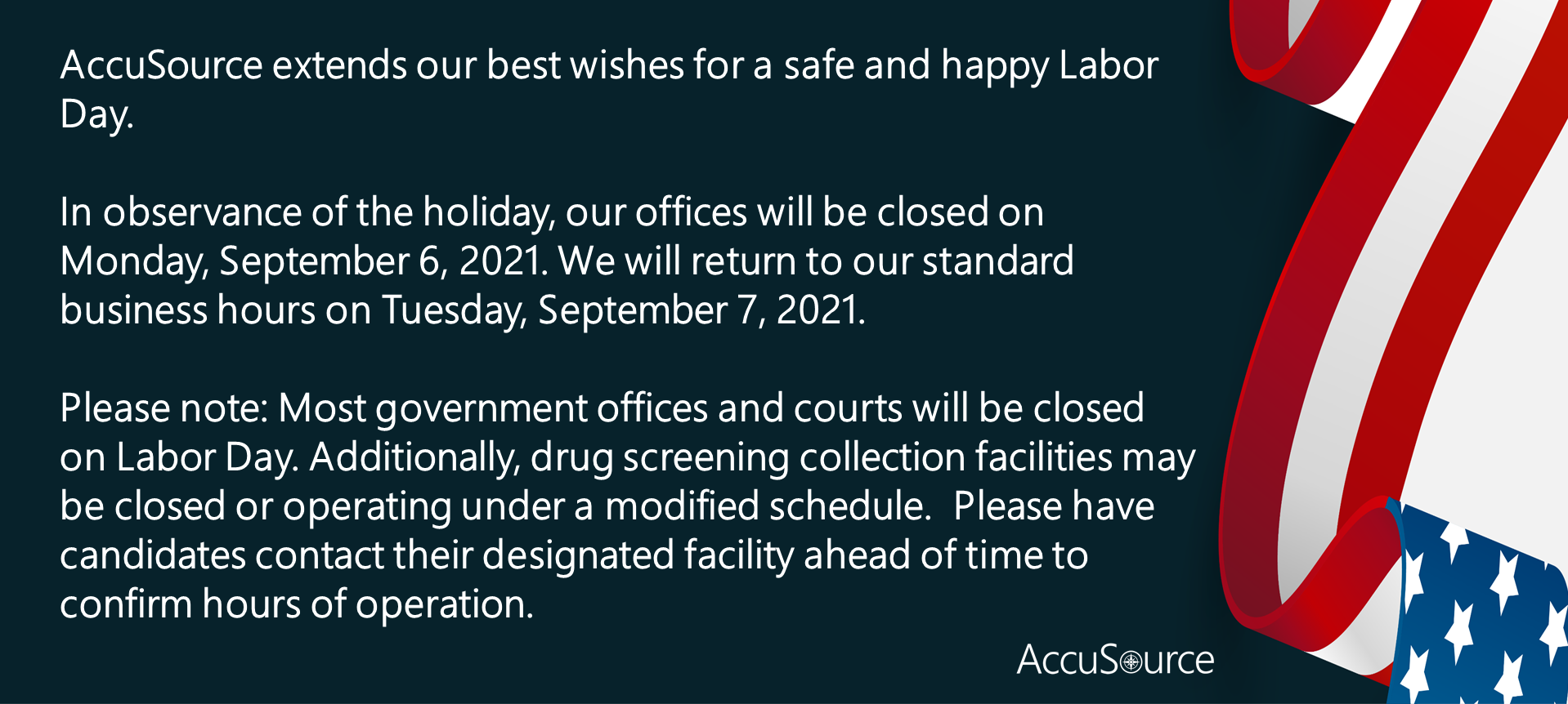 AccuSource Labor Day Hours 2021 L