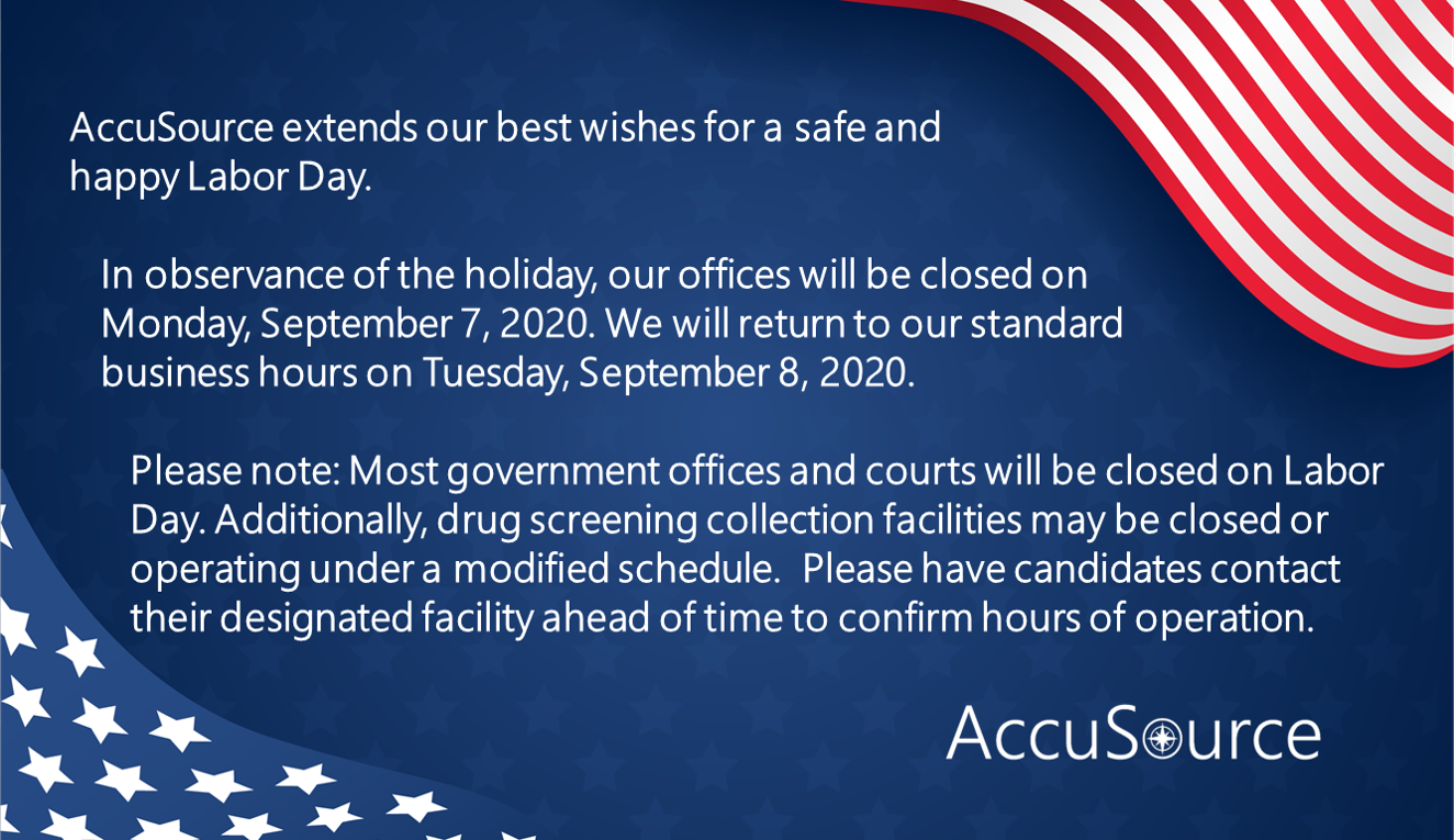 AccuSources Independence Day Holiday Hours Graphic
