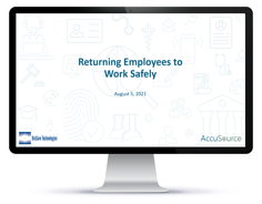 Returning Employees to Work Safely in Computer Screen video link
