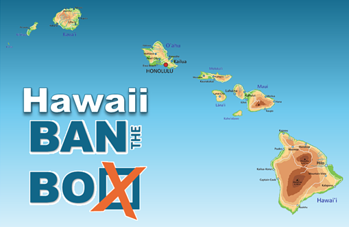 Hawaii Ban the Box with map of Hawaii
