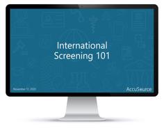 International Screening 101 - Computer Screen