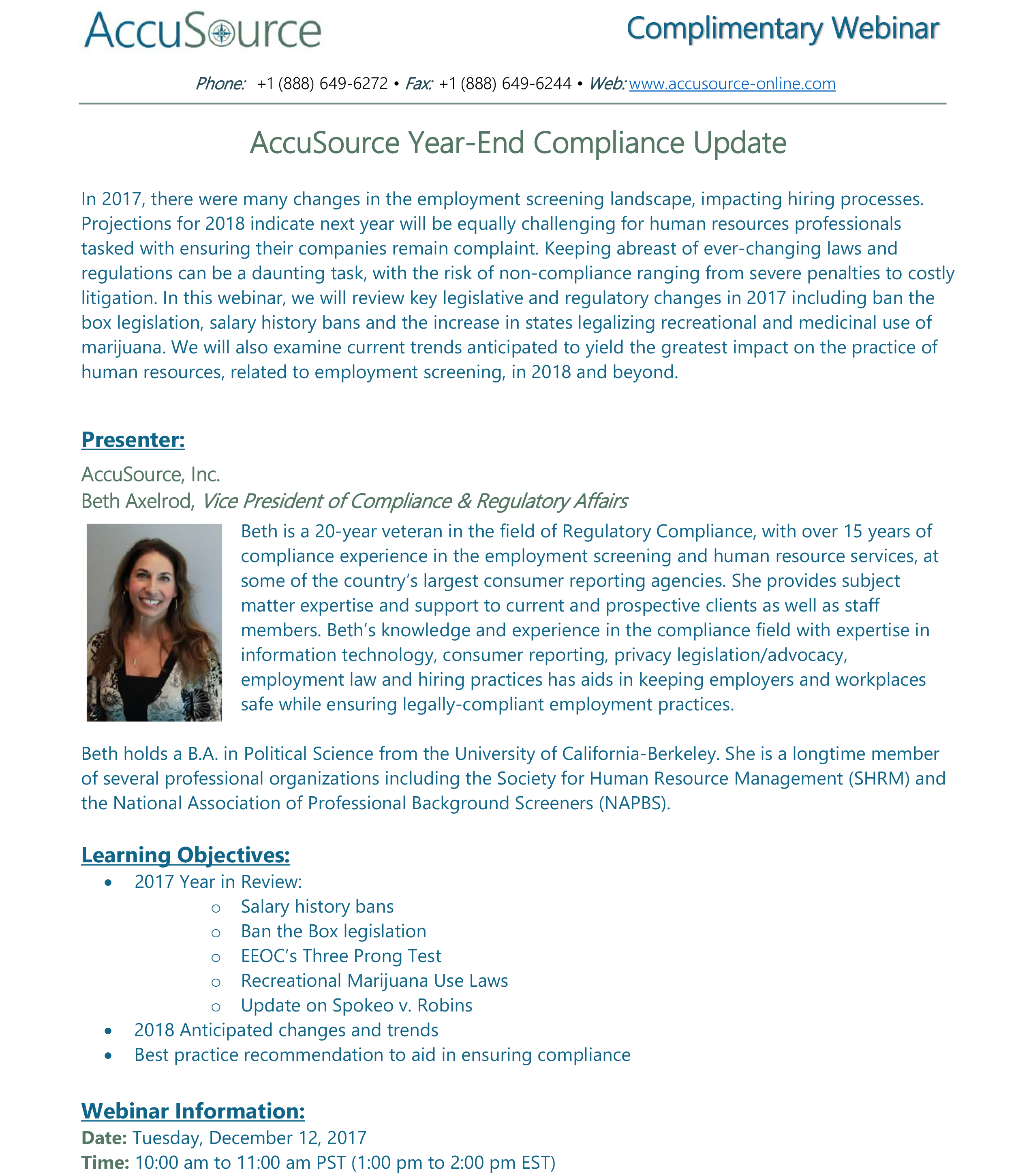 AccuSource's Year-End Compliance Update - Image for blog post